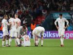 Los jugadores de España tras caer eliminados en la Eurocopa