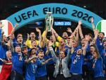 La selección italiana celebra la Eurocopa 2020