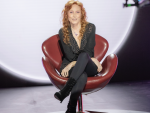 Susana Estrada en la grabación del documental de TVE