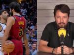 Incidente entre Campazzo y Ricky Rubio, y Pablo Iglesias