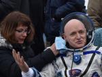 Scott Kelly, tras regresar del espacio, donde ha pasado un año