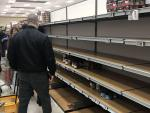 Supermercados vacíos en Italia.