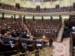 Vista general del pleno en el que se debate la moción de censura planteada por Vox, en el Congreso de los Diputados.