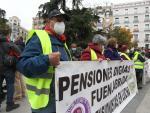 Concentración de pensionistas en Madrid.
