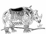 Ilustración de Antonio Santos en el libro 'El rinoceronte del rey'.