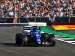 Fernando Alonso, en el circuito de Silverstone
