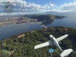 La calidad de los gráficos es espectacular en el Microsoft Flight Simulator.