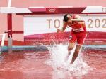 Fernando Carro, durante el 3.000 obstáculos de los Juegos Olímpicos de Tokio
