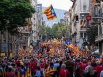 Gran manifestación independentista con motivo de la Diada 2021.