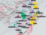 Mapa de actuaciones que tiene previsto el Ayuntamiento de Barcelona con el proyecto 'Superilla Barcelona'.
