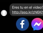 Estos mensajes se envían a través de Facebook Messenger.