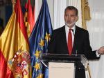El rey Felipe VI en el premio de periodismo Francisco Cerecedo.