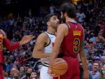 Facu Campazzo y Ricky Rubio, durante el Cleveland Cavaliers - Denver Nuggets
