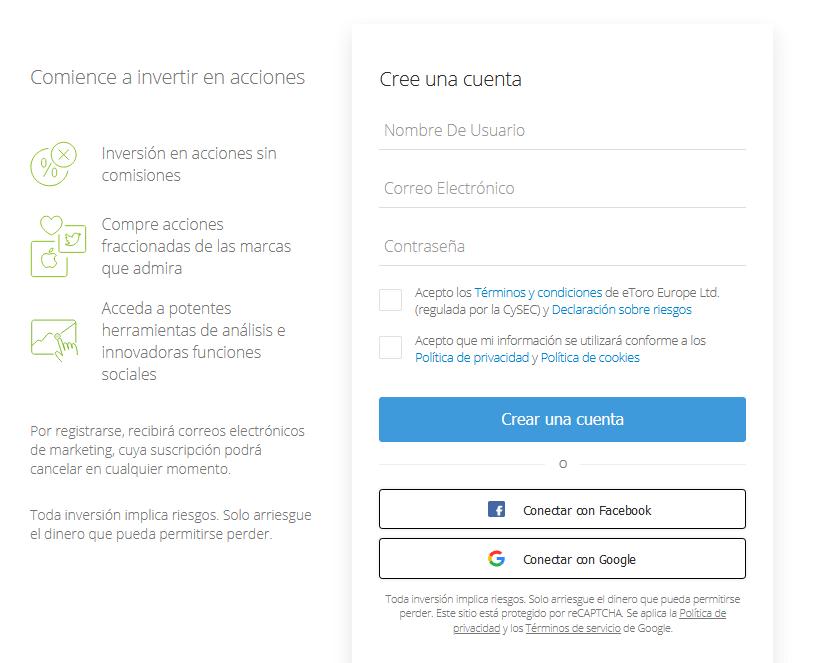Abrir cuenta eToro
