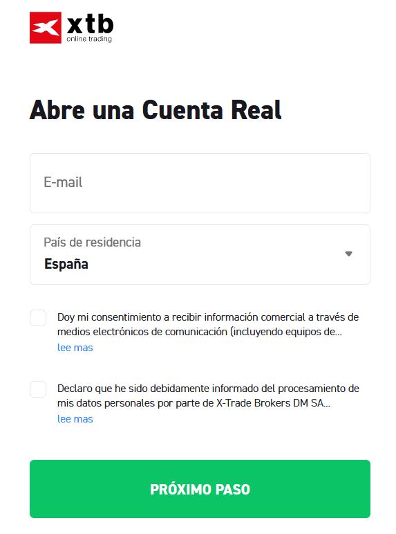 cuenta real XTB
